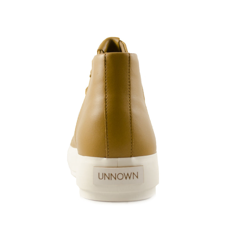 Unnown - Sonia (Brown) leather high top sneaker running shoe thick white sole