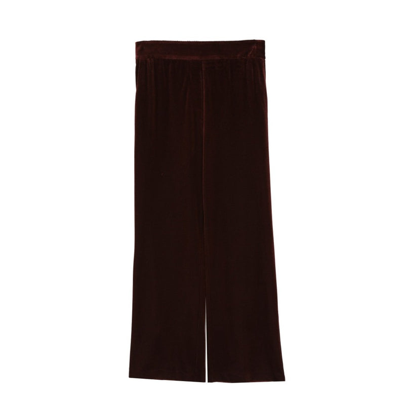 Velour Trousers (Brown)