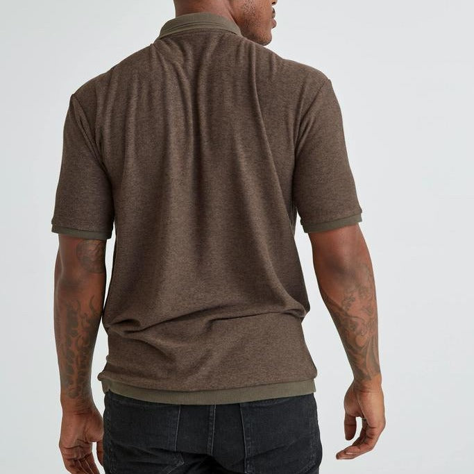 Cozy Knit Polo (Brown)