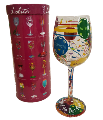 Lolita wine glass Aged to Perfection