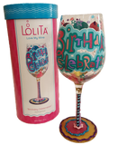 Birthday Celebration Wine Glass by Lolita