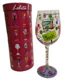 Mommy's Time Out Wine Glass by Lolita gift