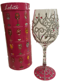 My Tiara Wine Glass by Lolita