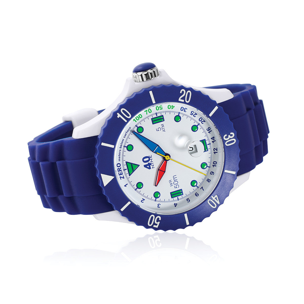 40Nine Extra-Large 50mm Blue FUN Watch