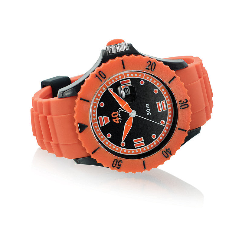 40Nine Extra Large 50mm Orange & Black Watch