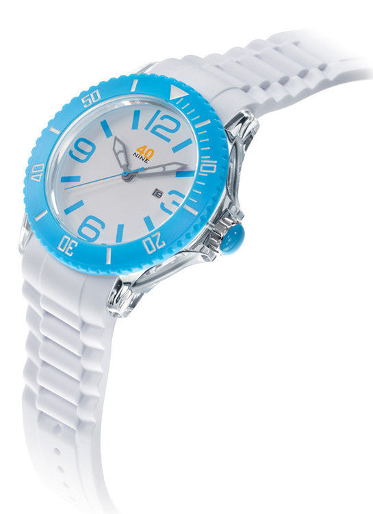 40Nine Extra Large 50mm Sky Blue Watch