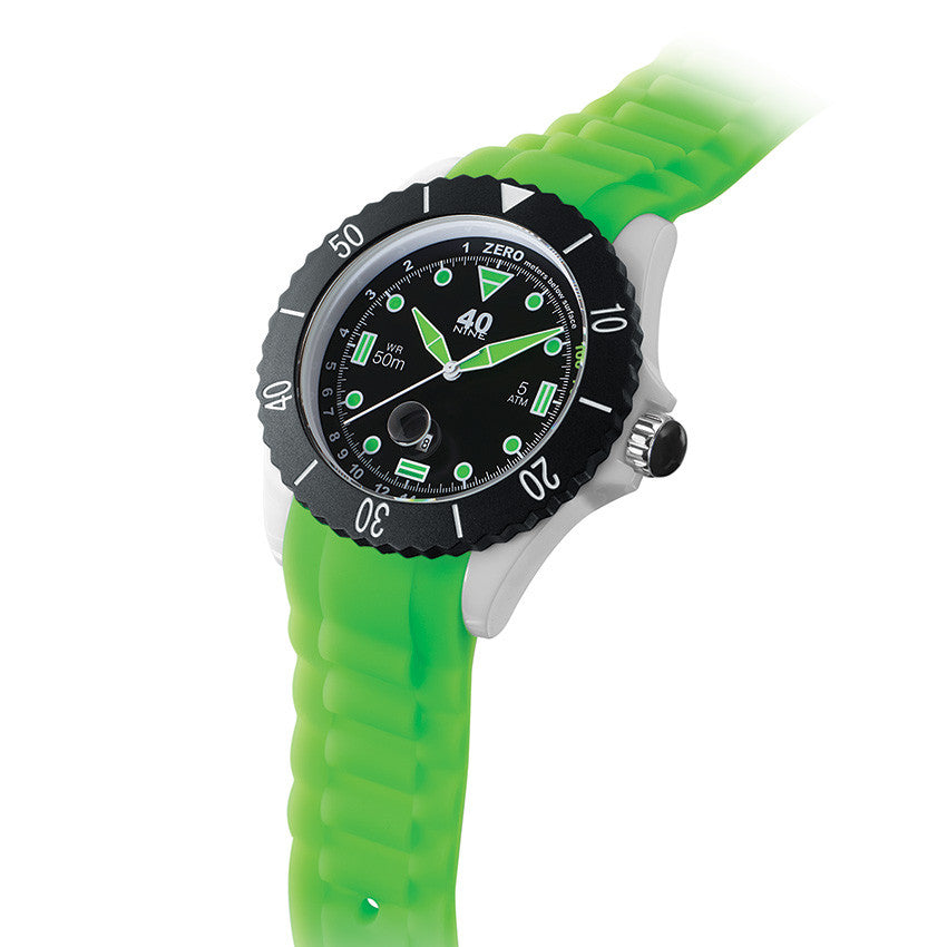 40Nine Large 45mm Green & Black Watch