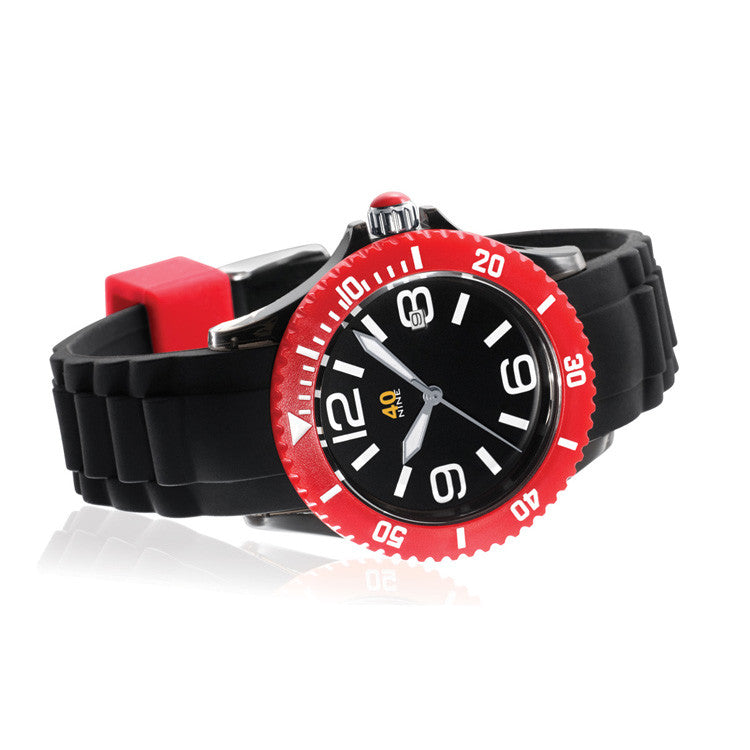40Nine Medium 40mm Black & Red Watch
