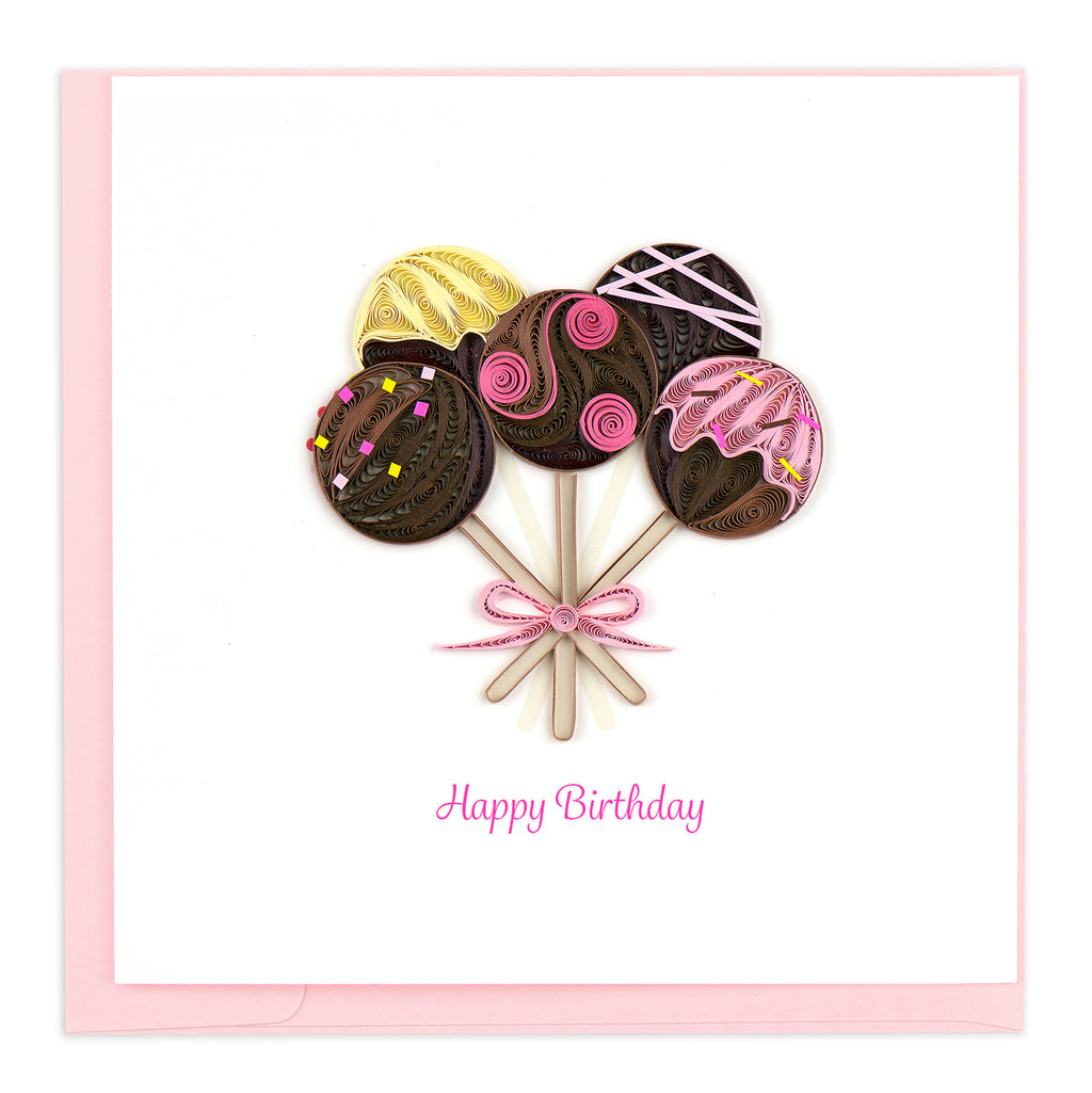 BD155 Quilling Card – Chocolate Bouquet Birthday