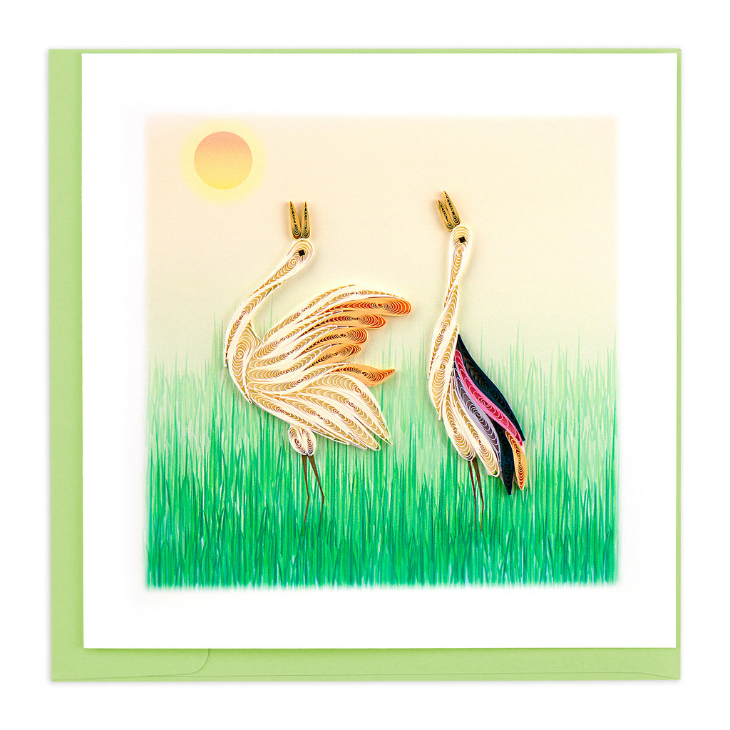 BL1000 Quilling Card – Two Cranes