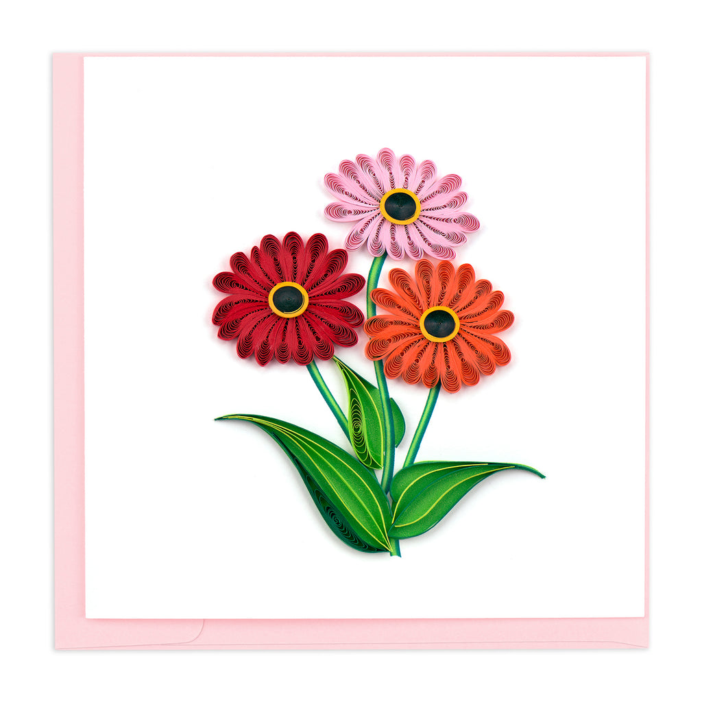 BL1018 Quilling Card – Gerber Daisies