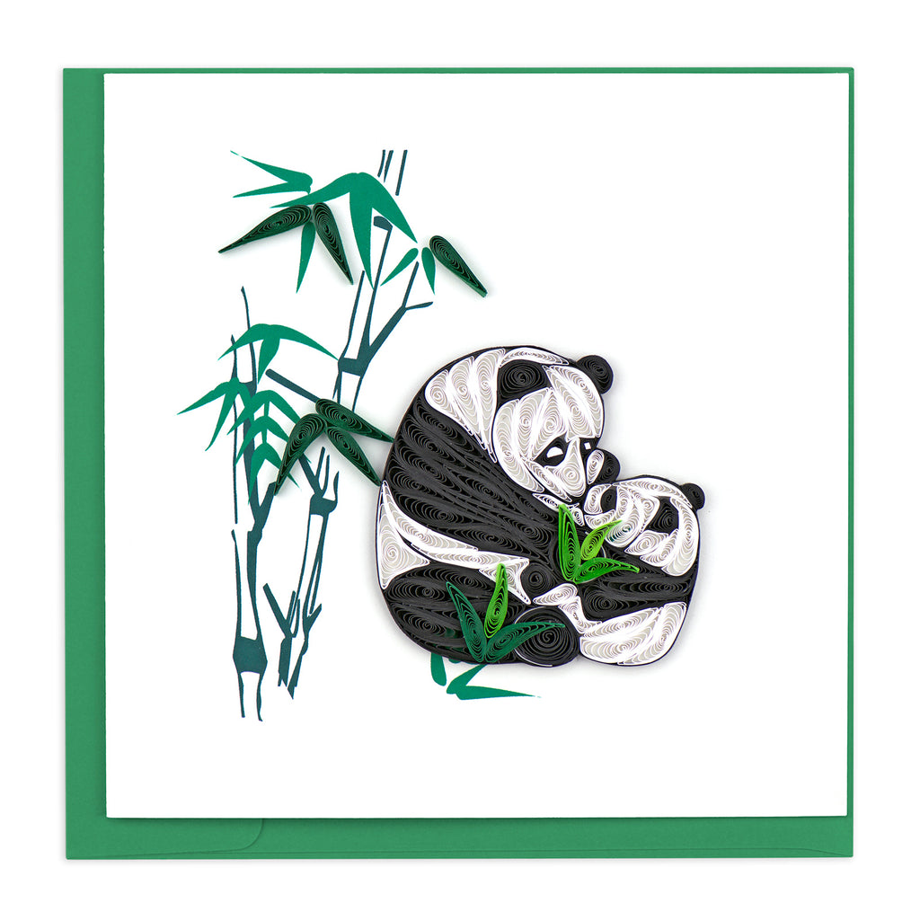 BL1030 Quilling Card – Two Pandas