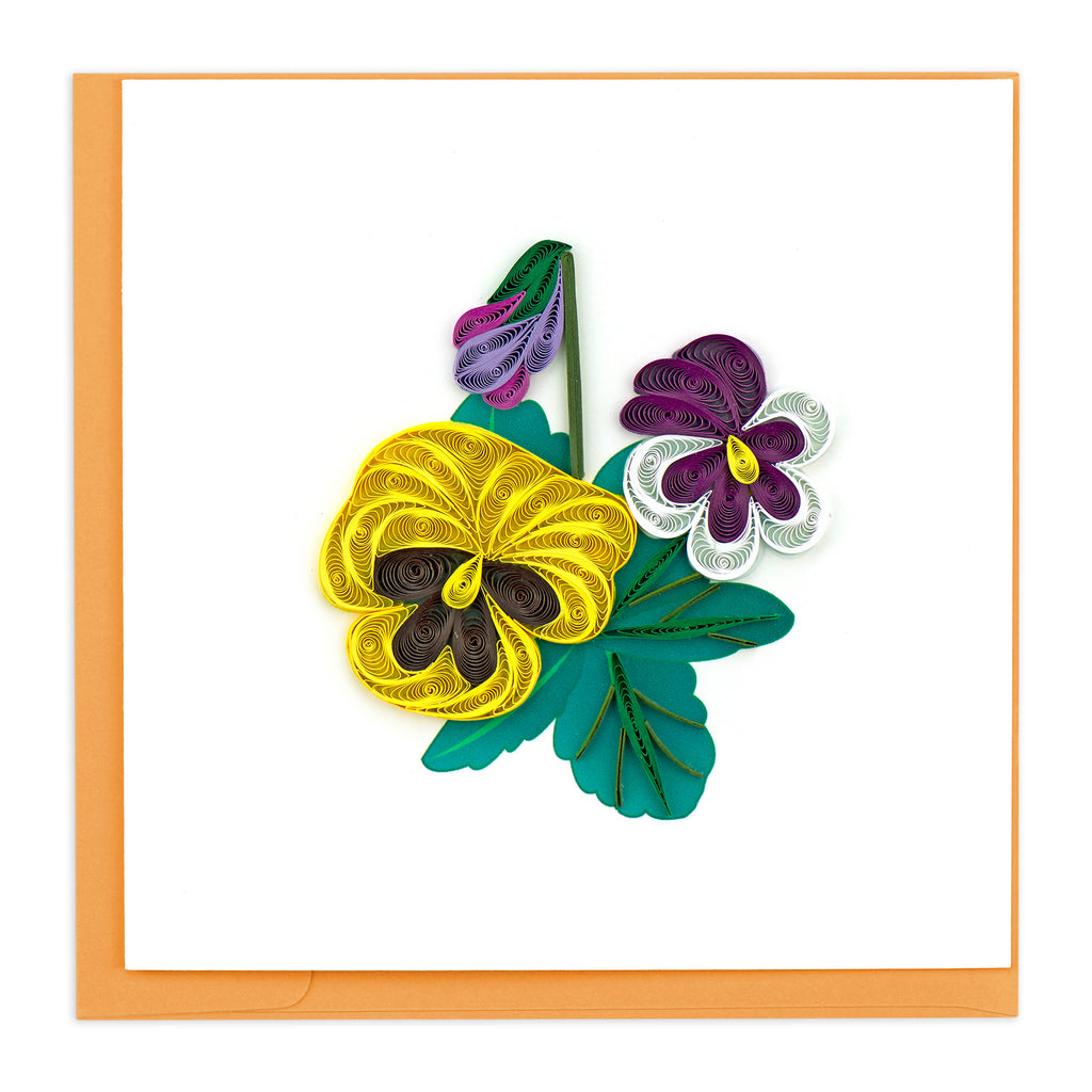 BL1035 Quilling Card – Pansies