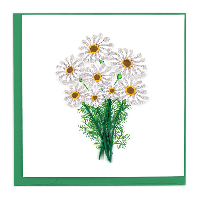 BL1042 Quilling Card – White Daisies
