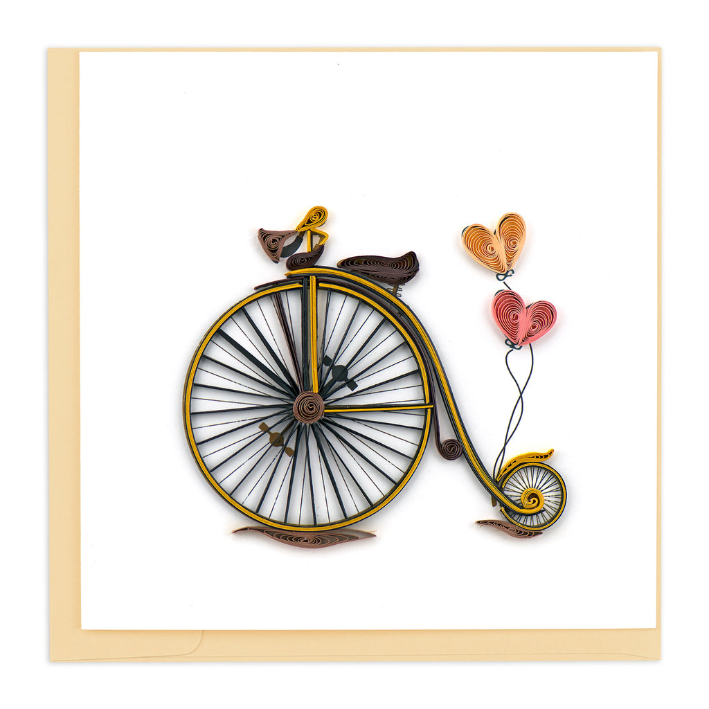 BL1056 Quilling Card – Vintage Bicycle