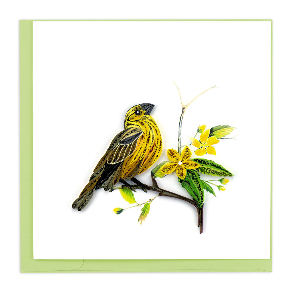BL1058 Quilling Card –  Yellow Hammer (State bird of Alabama)