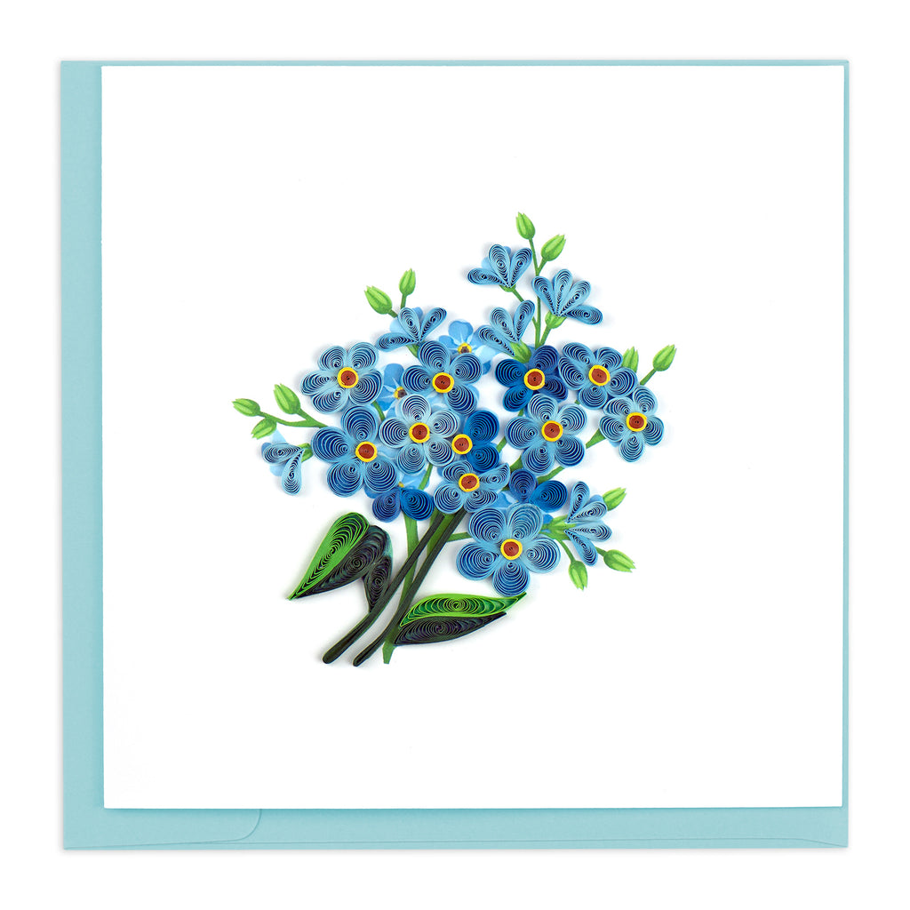 BL1078 Quilling Card –  Alpine Forget-Me-Not