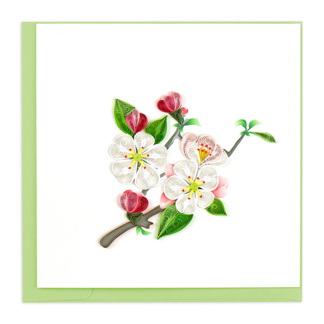 BL1093 Quilling Card –  Apple Blossom (State Flower of Arkansas)
