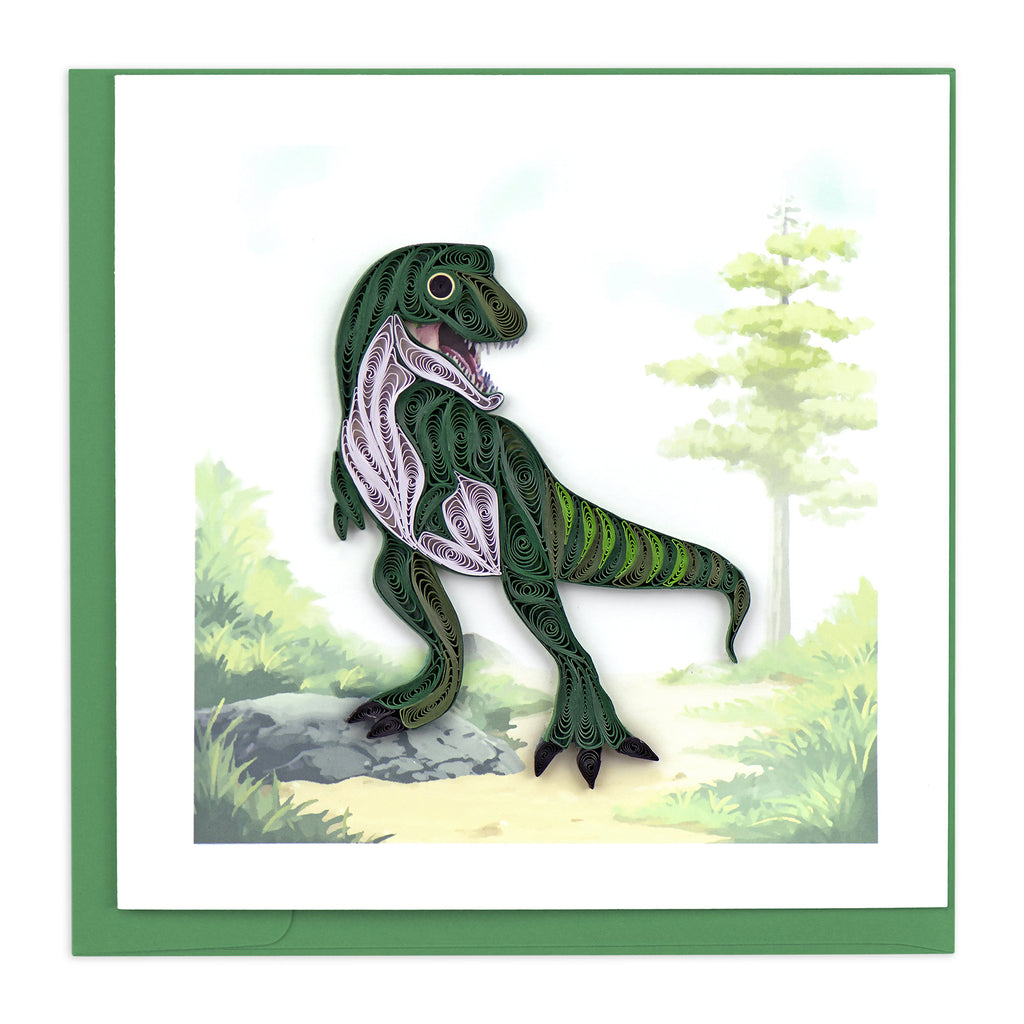 BL1123 Quilling Card –  T-Rex Dinosaur