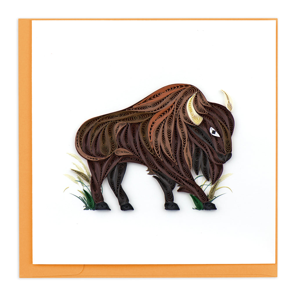 BL1174 Quilling Card – Bison