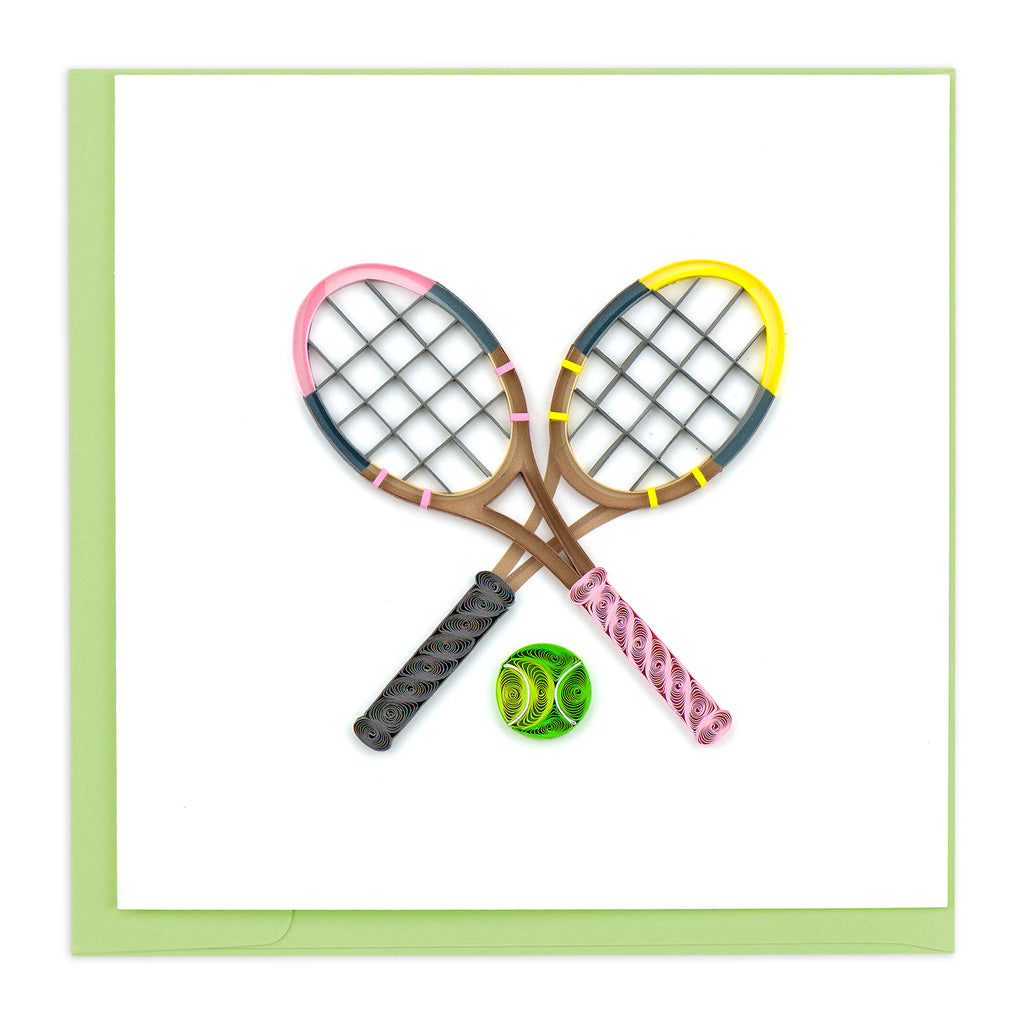 BL1176 Quilling Card – Tennis Rackets