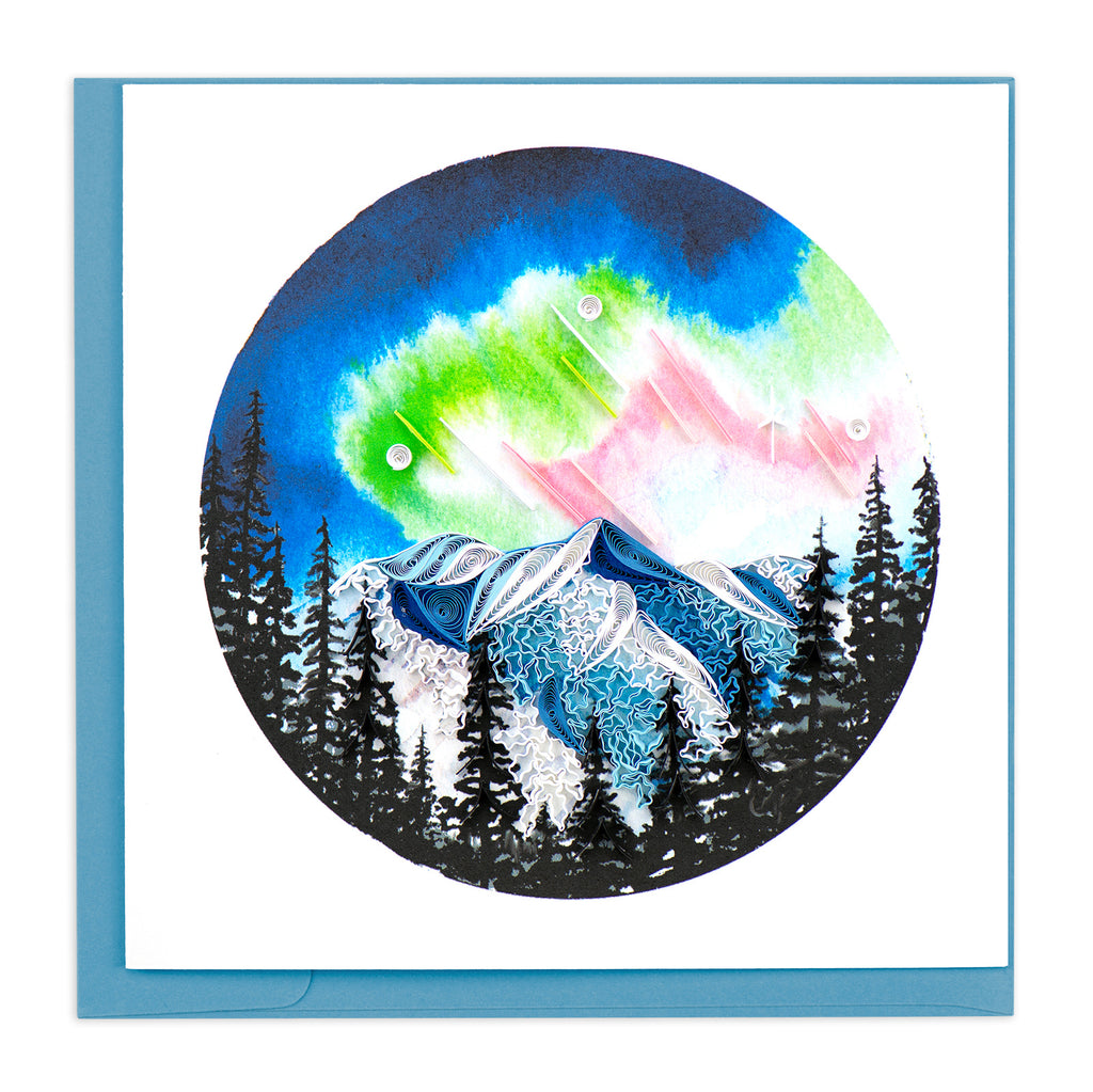 BL1205  Quilling Card – Northern Lights