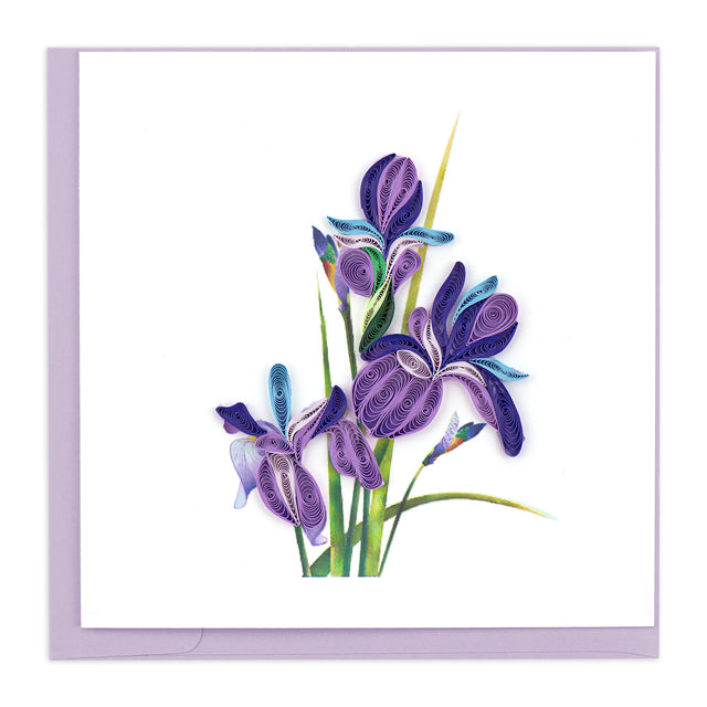BL981 Quilling Card – Iris