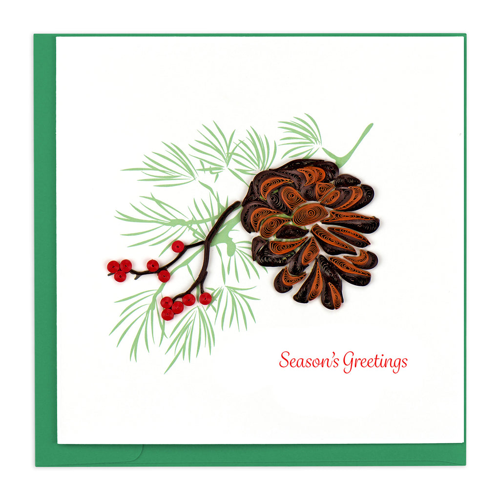 HD628 Quilling Card – Holiday Pinecone