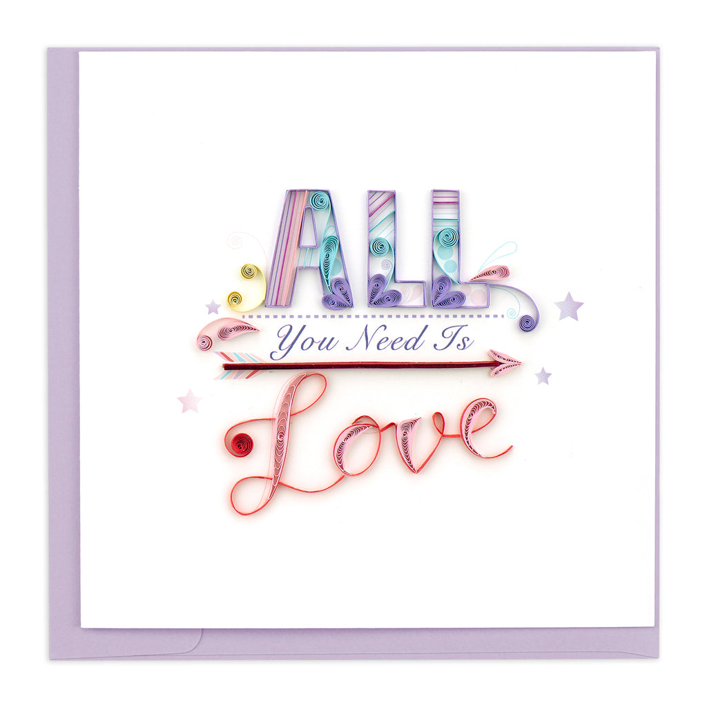 LV205 Quilling Card – All You Need Is Love