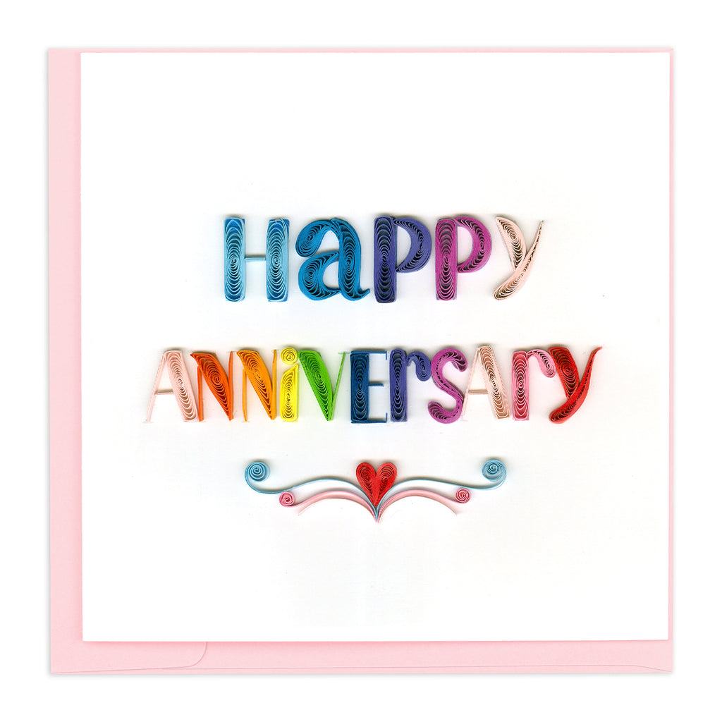 LV213 Quilling Card – Happy Anniversary