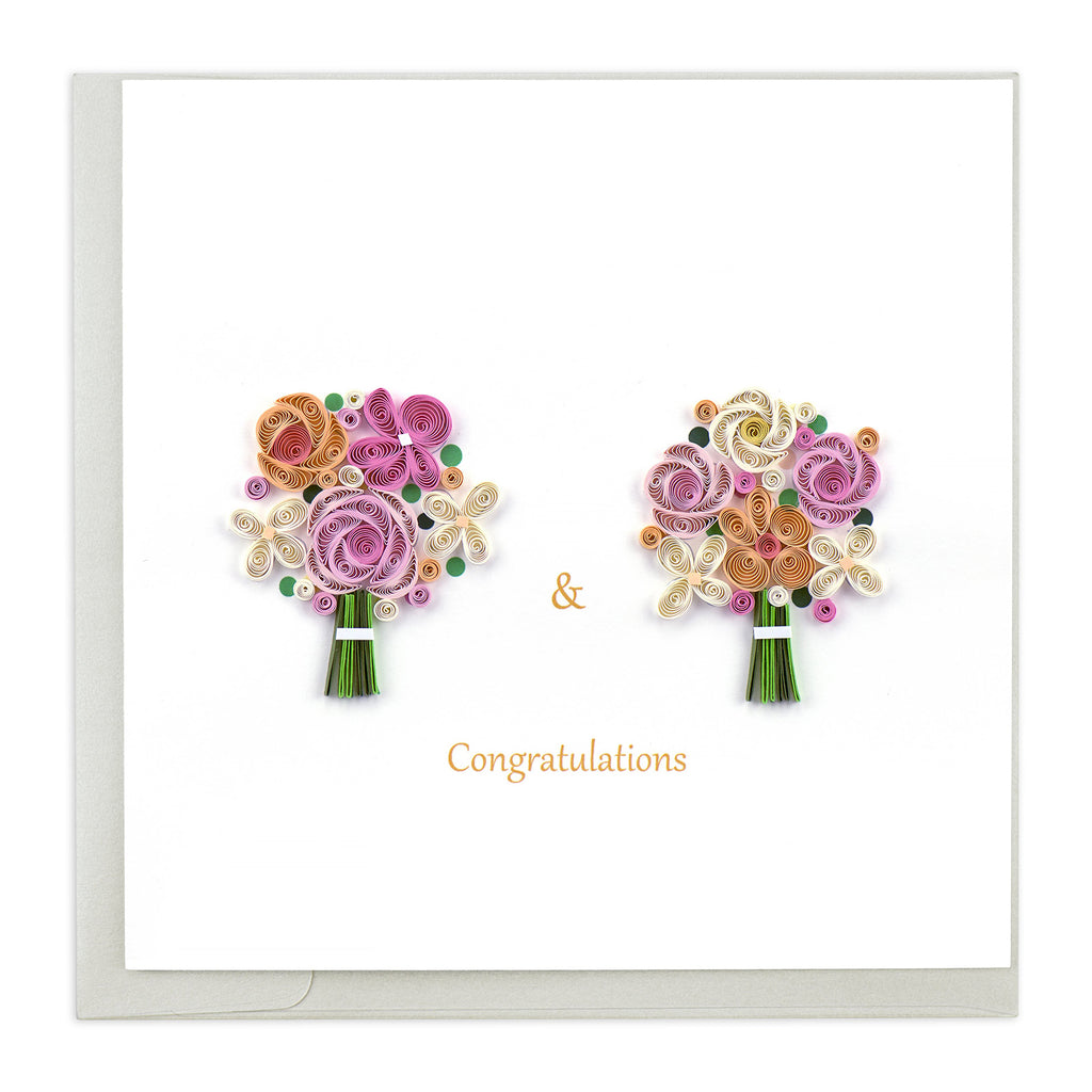 LV218 Quilling Card –  Congratulations (2 Brides)
