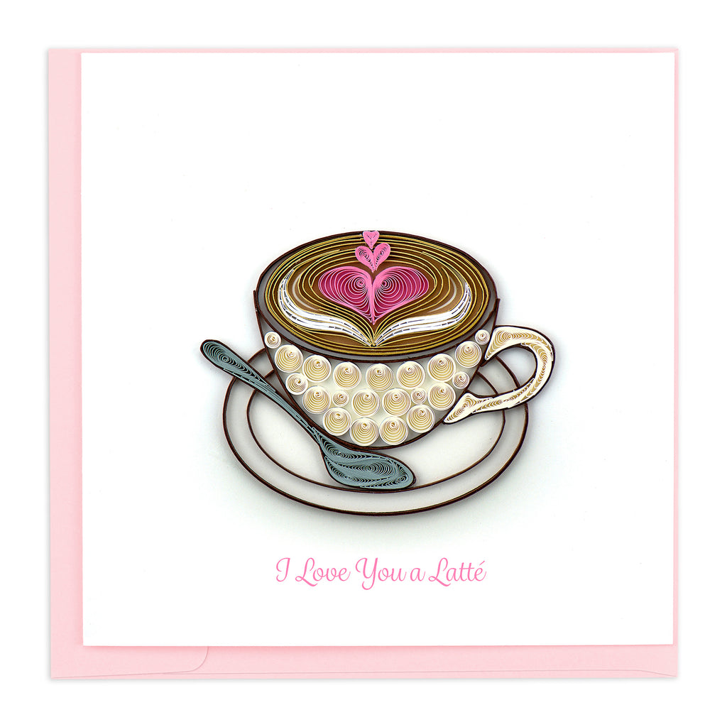 LV231 Quilling Card – Love Latté