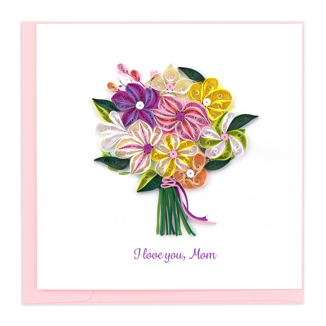 SO707 Quilling Card – Mother's Day Flower Bouquet