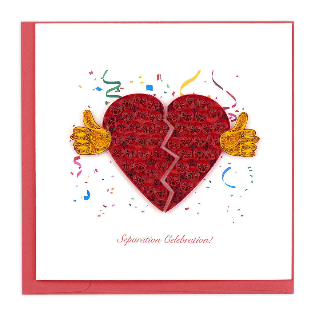 SO718 Quilling Card –  Separation Celebration