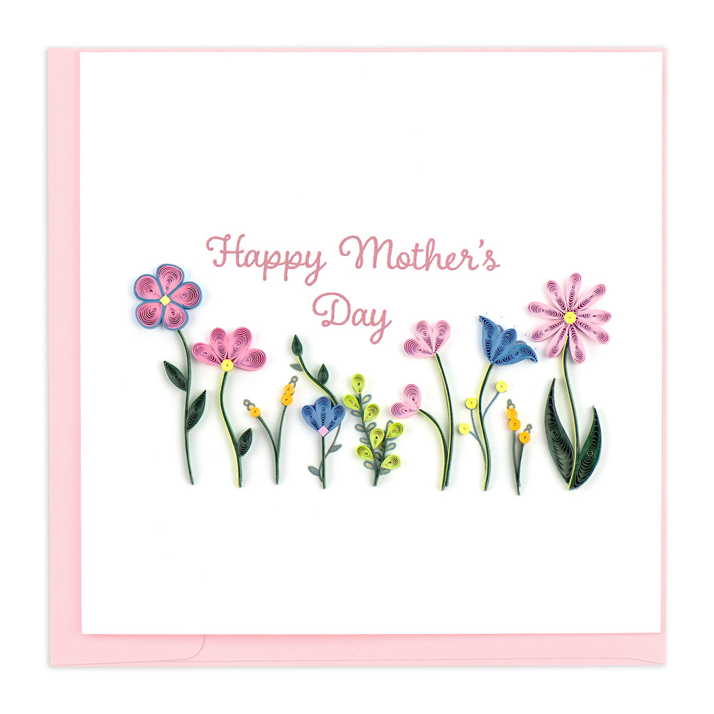 SO731 Quilling Card – Mother's Day Flower Garden
