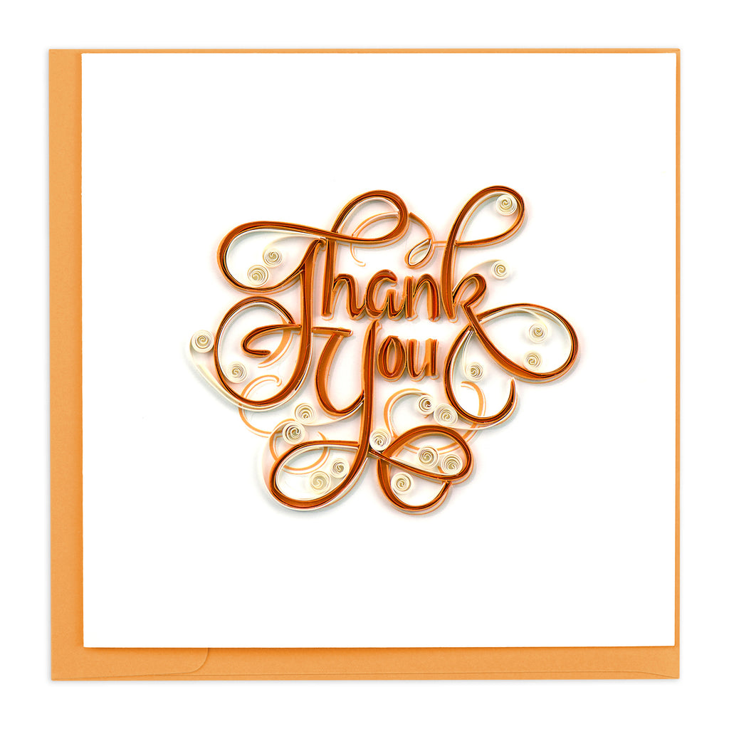 TY005 Quilling Card – Thank You Swirls
