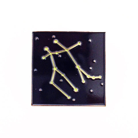 Gemini Constellation Glow in the Dark Lapel Pin