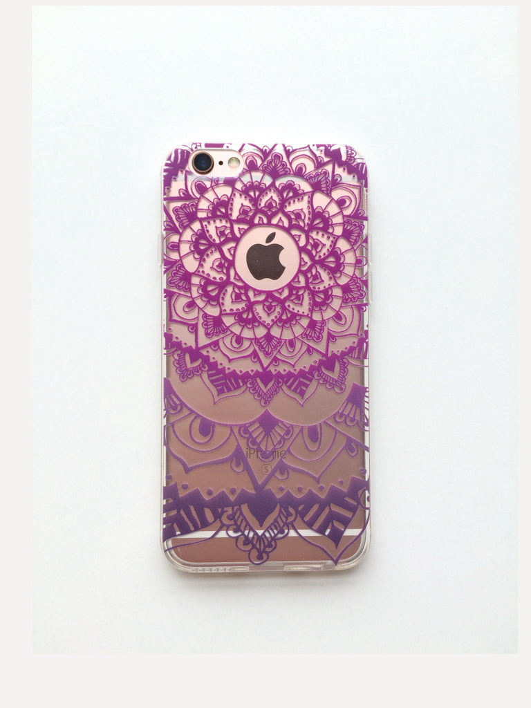 Purple Henna Inspired Phone Case
