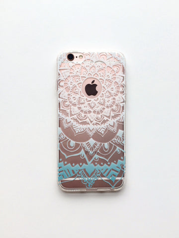 Baby Blue Henna Inspired Phone Case