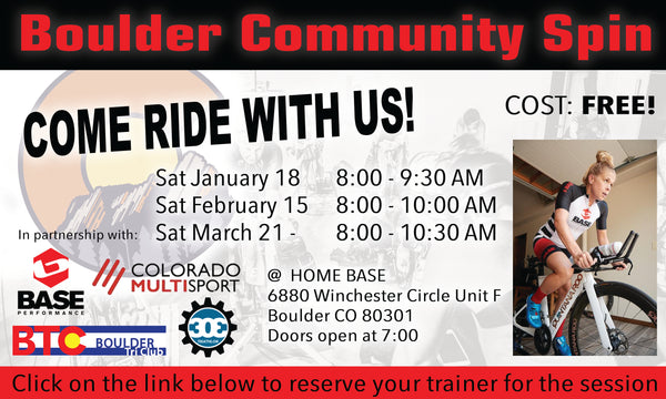 <p><strong>BOULDER COMMUNITY SPIN SESSIONS<p><strong>