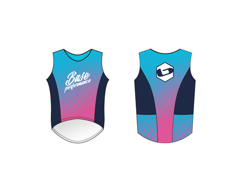 WOMENS PINK AND BLUE - 2018 Team Triathlon Top-CLOSEOUT