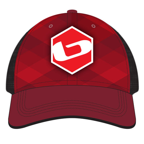 2015 BASE Collector Trucker Hat Red Diamond Plaid