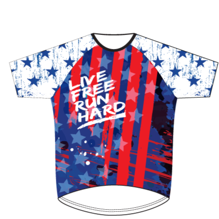 SALUTE AMERICA - MENS RUN SHIRT WITH SLEEVES