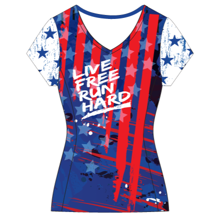 SALUTE AMERICA - FEMALE RUN SHIRT WITH SLEEVES