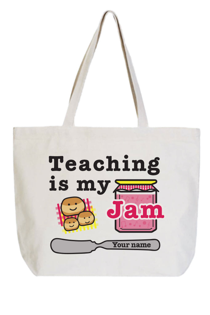 'Teaching is my Jam' w/ Biscuits Tote
