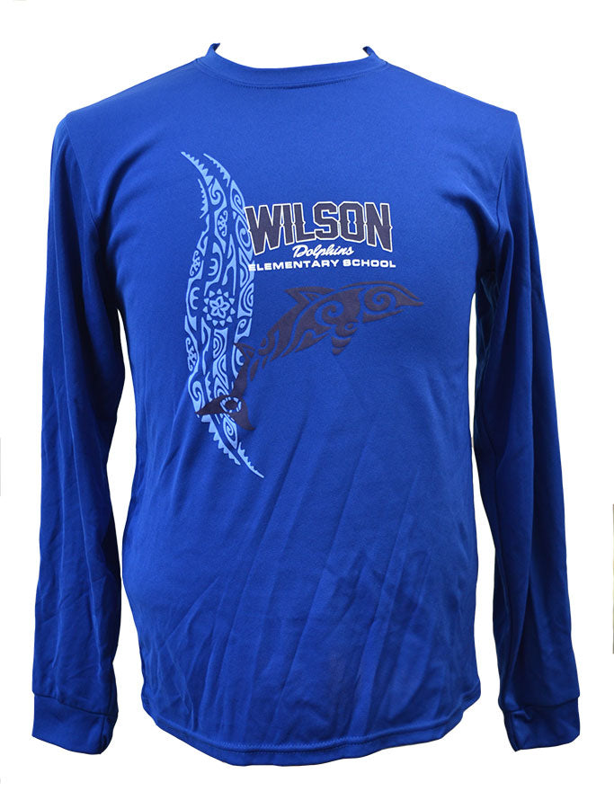 Wilson Tribal Dolphin Dri-Fit Long-Sleeve