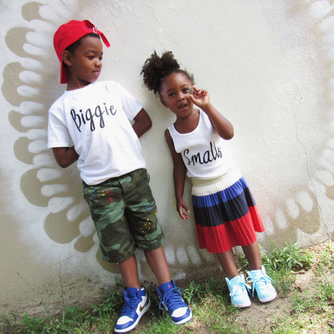 Biggie Smalls Sibling Shirt Set