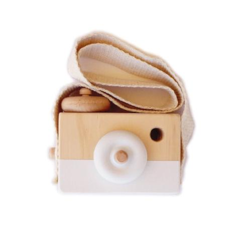 Wooden Camera Toy - White