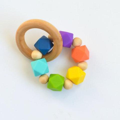 Rainbow Eco- Friendly Silicone Teether