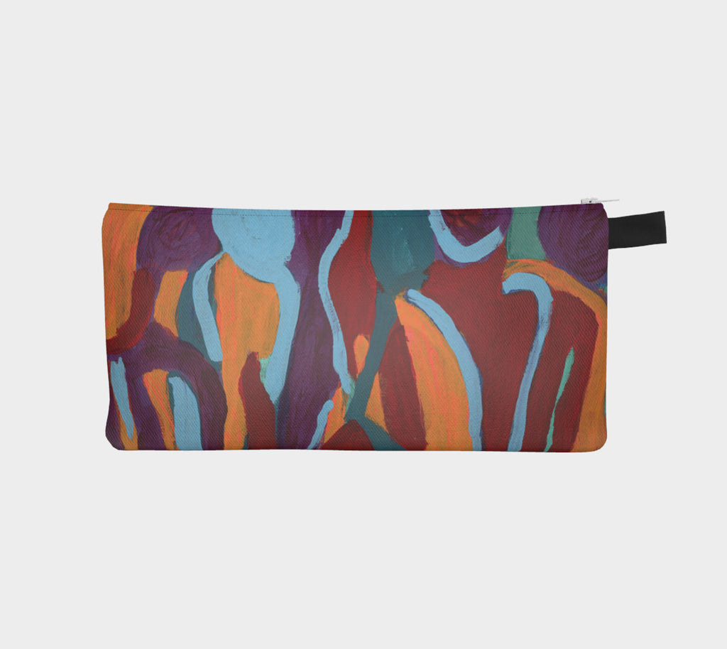 Pencil case of abstract art